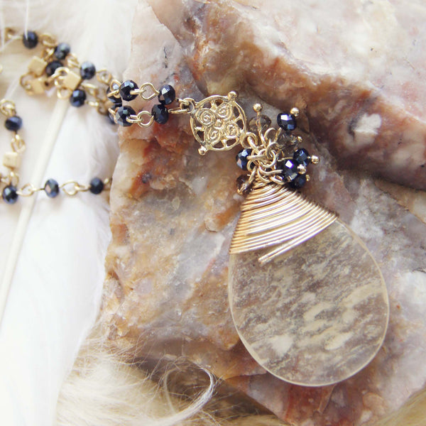 Amber Moon Necklace: Featured Product Image