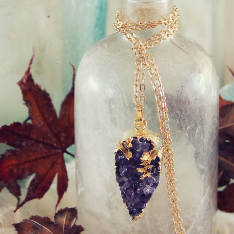 Amethyst Arrow Necklace