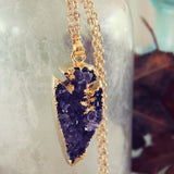 Amethyst Arrow Necklace: Alternate View #2