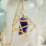 Amethyst Moon Necklace: Alternate View #1