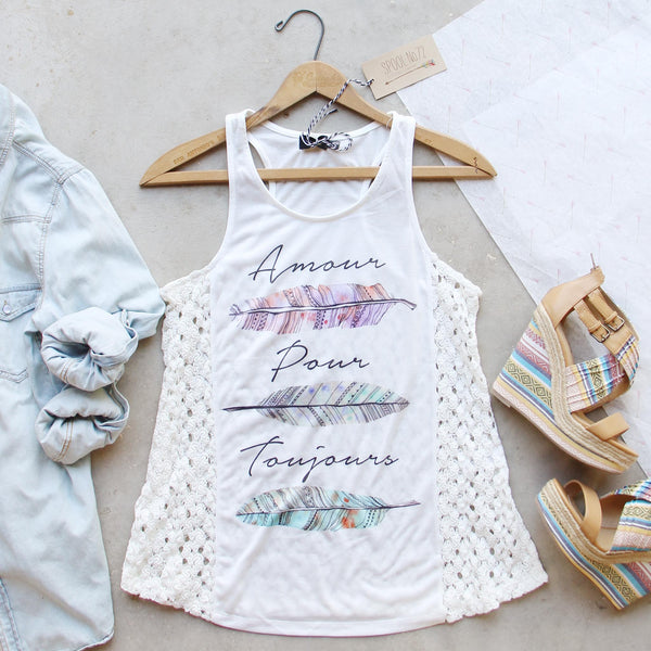 Amour Feather Tank: Featured Product Image