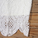 Ancient Lace Dress in White: Alternate View #3