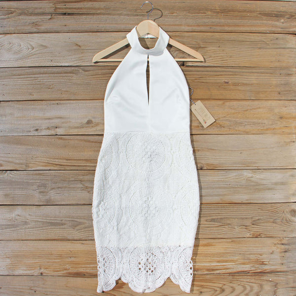 Ancient Lace Dress in White: Featured Product Image