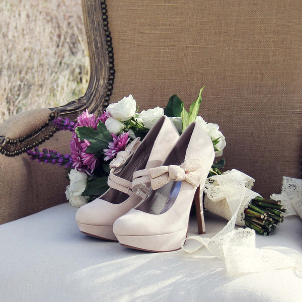 Ancient Lake Lace Heels in Sand: Featured Product Image