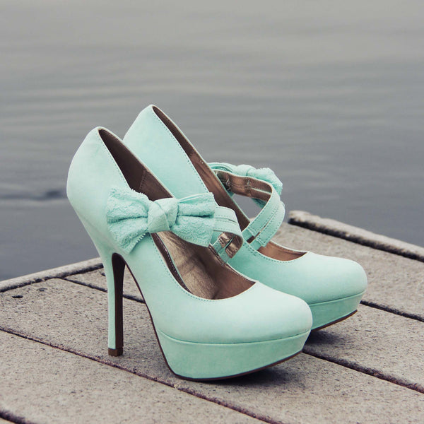 Ancient Lake Lace Heels: Featured Product Image