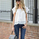 Gone Antiquing Lace Top (wholesale): Alternate View #1