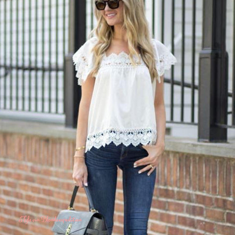 Gone Antiquing Lace Top