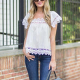 Gone Antiquing Lace Top (wholesale): Alternate View #2