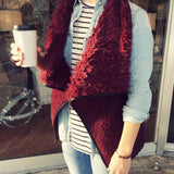 Arctic Sherpa Vest in Burgundy: Alternate View #4
