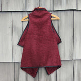 Arctic Sherpa Vest in Burgundy: Alternate View #2