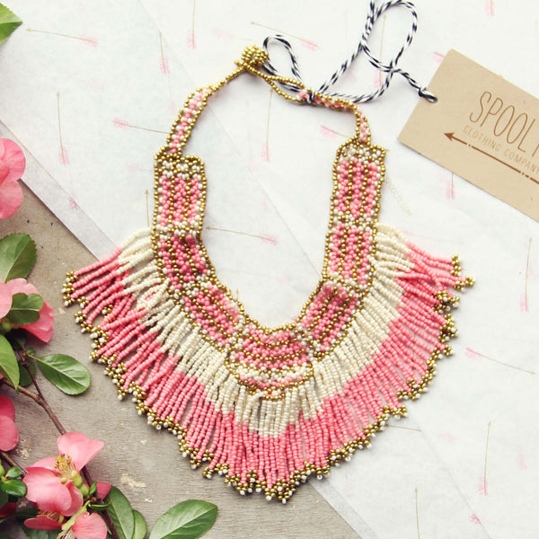 Arid Gems Necklace in Peony: Featured Product Image