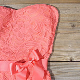 Arizona Lace Dress in Coral: Alternate View #2