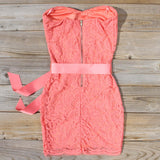 Arizona Lace Dress in Coral: Alternate View #4