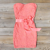Arizona Lace Dress in Coral: Alternate View #1