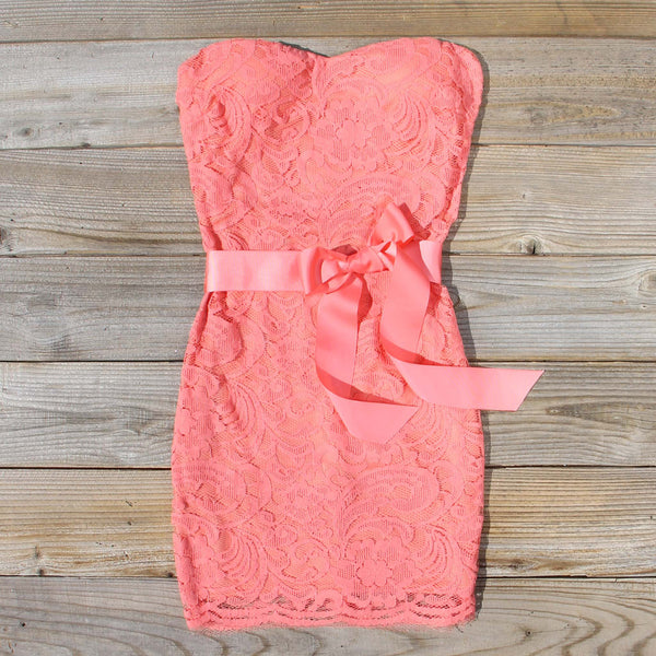 Arizona Lace Dress in Coral: Featured Product Image