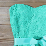 Arizona Lace Dress in Sea: Alternate View #2