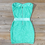 Arizona Lace Dress in Sea: Alternate View #4