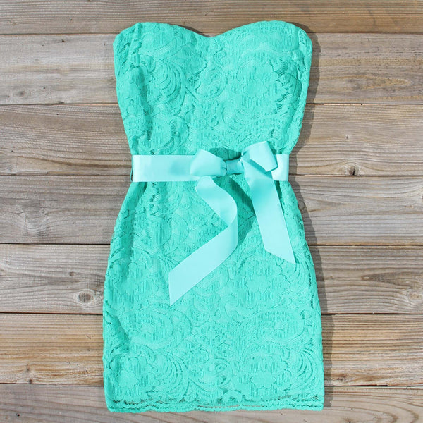 Arizona Lace Dress in Sea: Featured Product Image