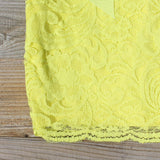 Arizona Lace Dress in Yellow: Alternate View #3