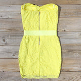Arizona Lace Dress in Yellow: Alternate View #4