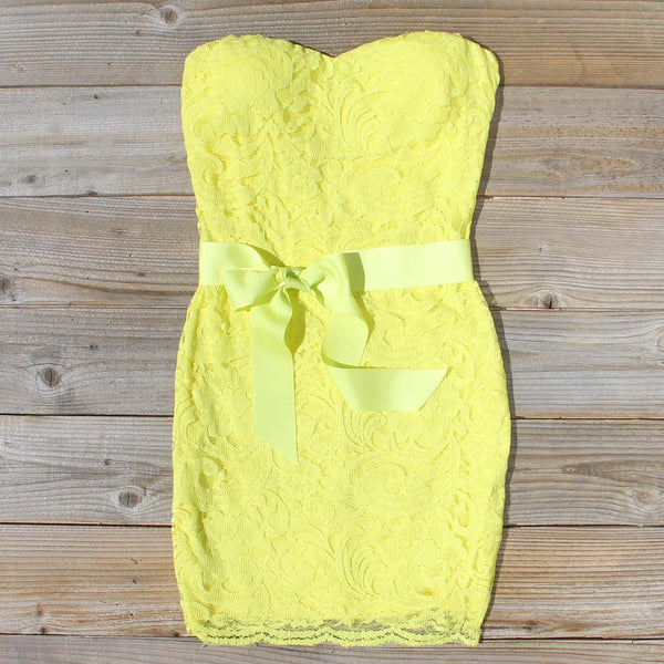 Arizona Lace Dress in Yellow: Featured Product Image