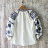 Arizona Sky Blouse in Navy White: Alternate View #4