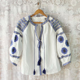 Arizona Sky Blouse in Navy White: Alternate View #1