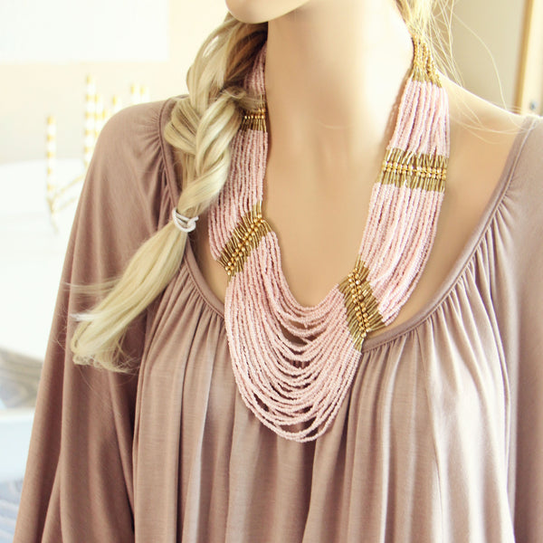 Arizona Stone Necklace in Pink: Featured Product Image