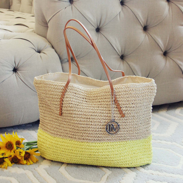 Arizona Dipped Tote in Yellow: Featured Product Image