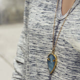 Arrow & Stone Necklace: Alternate View #2