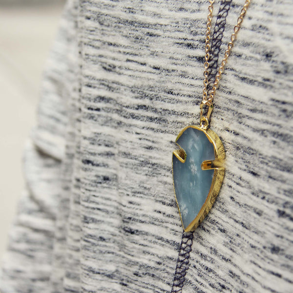 Arrow & Stone Necklace: Featured Product Image