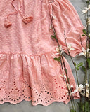 Ashter Lace Dress in Pink: Alternate View #3