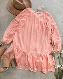 Ashter Lace Dress in Pink: Alternate View #4