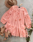 Ashter Lace Dress in Pink: Alternate View #1