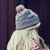 The Ashton Beanie in Gray: Alternate View #2