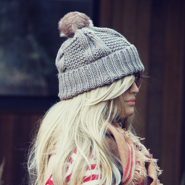 The Ashton Beanie in Gray: Featured Product Image