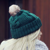 The Ashton Beanie in Green: Alternate View #2
