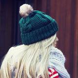 The Ashton Beanie in Green: Alternate View #1