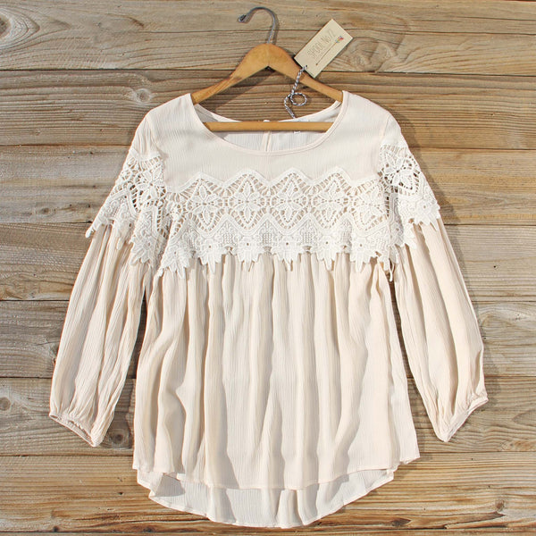 Aspen Gypsy Top in Sand: Featured Product Image