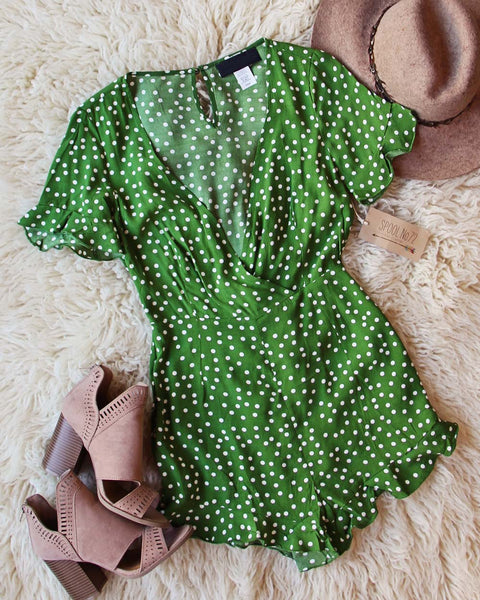 Astilbe Wrap Romper: Featured Product Image