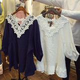 Astilbe Lace Top in White (wholesale): Alternate View #5