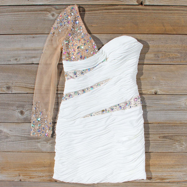 Spool Couture Athena Dress in White: Featured Product Image