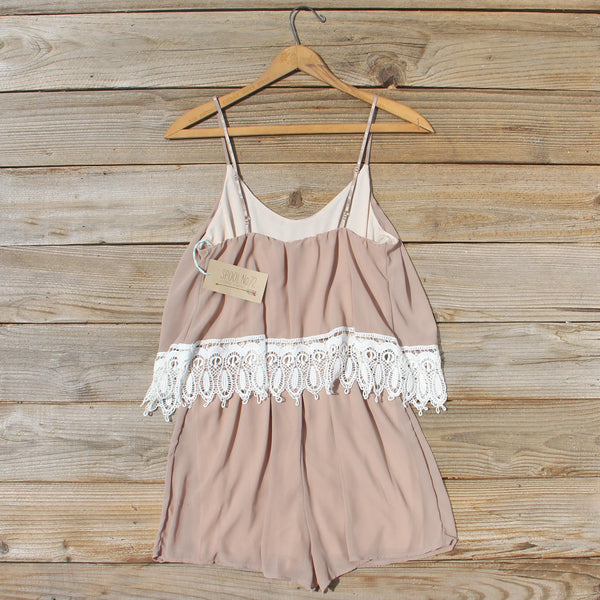 Sienna Lace Romper: Featured Product Image
