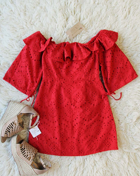 August Eyelet Dress: Featured Product Image