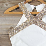 Aura Quartz Party Dress in White: Alternate View #2