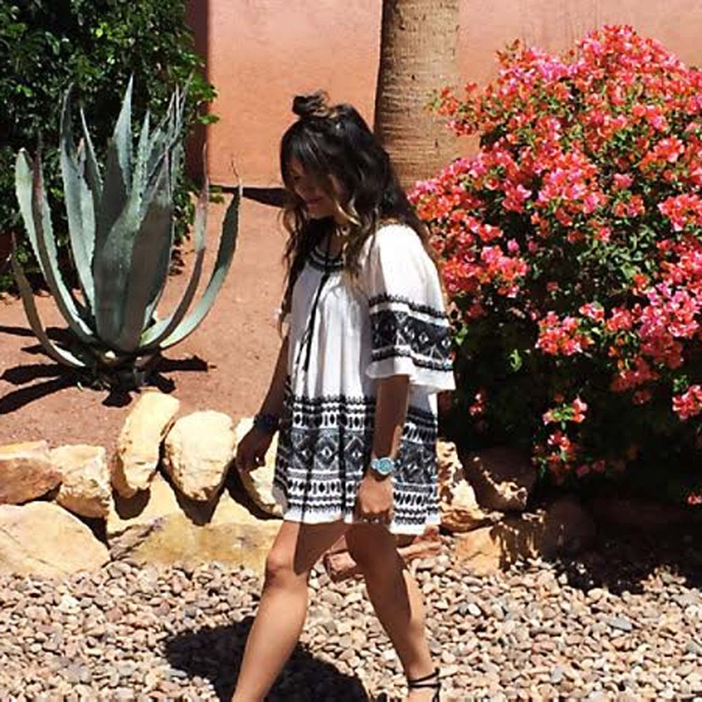 Austin Embroidered Tunic Dress Boho Spring Dresses From Spool 72