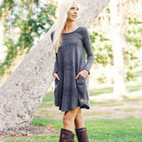Autumn Dust Dress in Gray: Alternate View #1