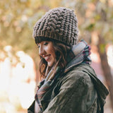 Autumn Knit Cozy Beanie: Alternate View #1