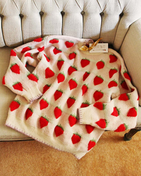 Autumn Sweet Sweater In Red Berry: Featured Product Image