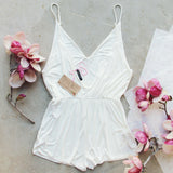 White Avalon Romper: Alternate View #3